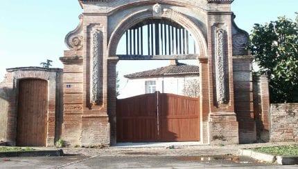 Portail de l'ancien domaine de Pierre Bourrassol sur le cadastre de 1691